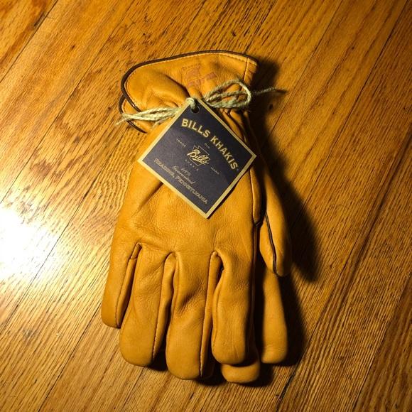 3a0b38e260cb Accessories | Bills Khakis Deer Skin Fleece Lined Driving Gloves ...